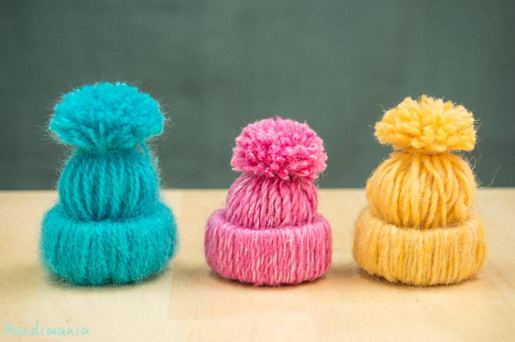 Mini,bonnets décoratifs en laine