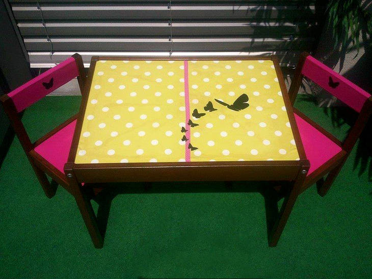 relooking d 39 une table et chaises pour enfants guide astuces. Black Bedroom Furniture Sets. Home Design Ideas