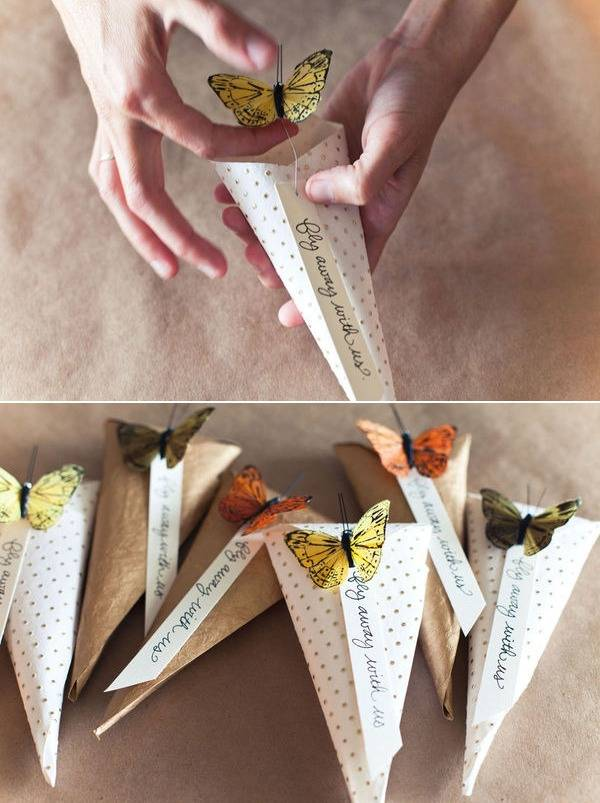 Emballage cadeau en forme de cornet guide astuces - Emballer un cadeau de facon originale ...