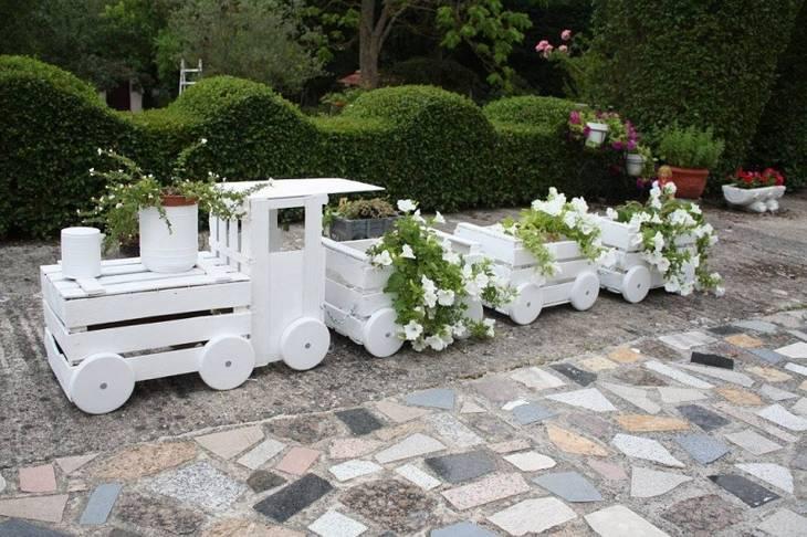 Jardiniere En Forme De Train A Partir De Caisses De Fruits Guide