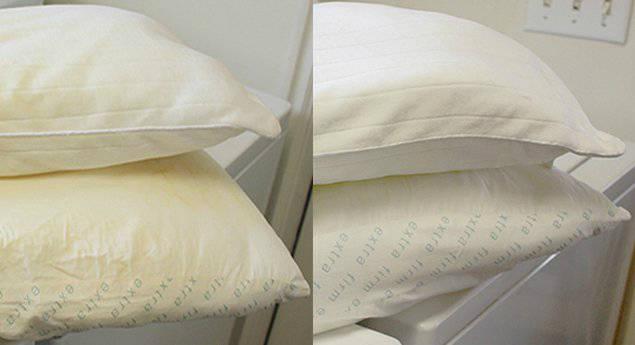 laver les oreillers jaunis et leur redonner leur blancheur guide astuces. Black Bedroom Furniture Sets. Home Design Ideas