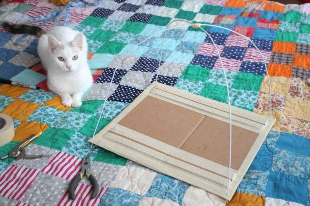 support de tente pour chat DIY