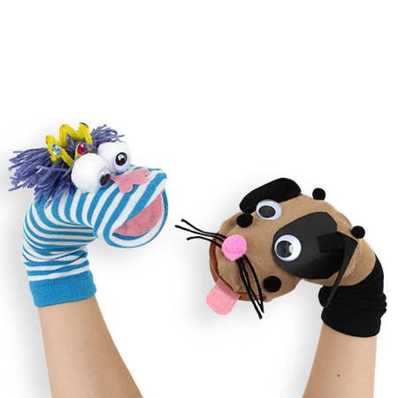 Marionnettes rigolotes avec des chaussettes guide astuces - Comment faire une marionnette ...
