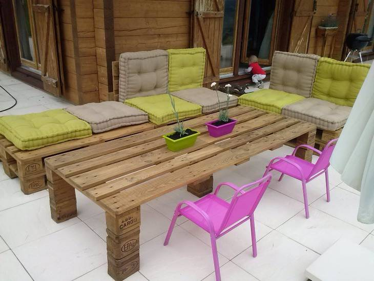 Salon de jardin en palettes guide astuces for Table de salon en palette