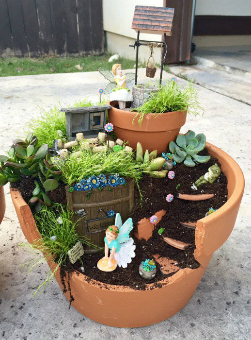 Mini Jardin De F Es Avec Un Pot De Fleur Cass Guide Astuces