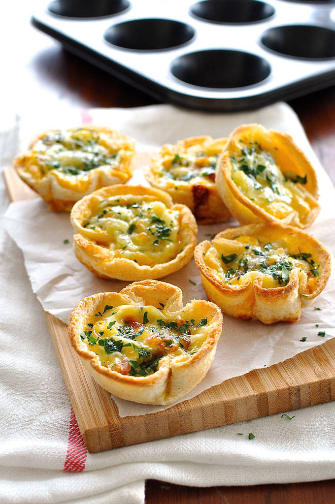 Mini Quiches de pain de mie