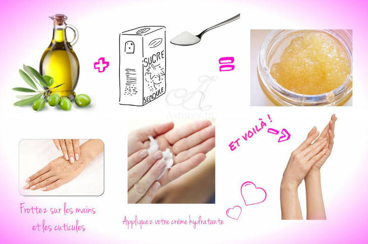 Gommage pour les mains fait maison guide astuces for Autobronzant naturel fait maison