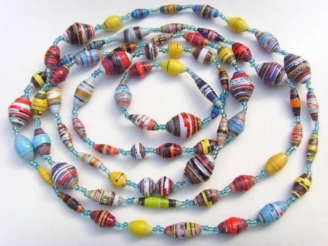 fabriquer des colliers de perles en papier recycl guide astuces. Black Bedroom Furniture Sets. Home Design Ideas