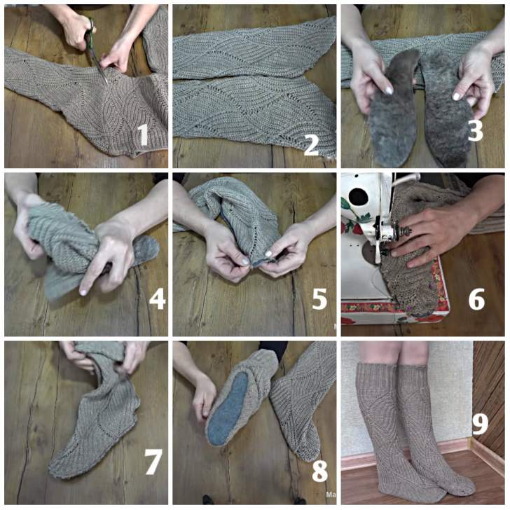 Fabrication de chaussons