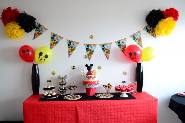 Id es et astuces pour l organisation d un anniversaire d 39 enfant - Decoration mickey anniversaire ...