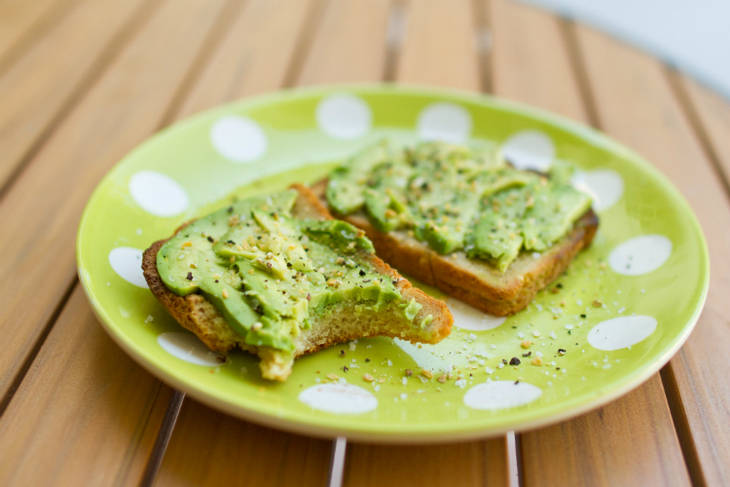 Toasts à l'avocat