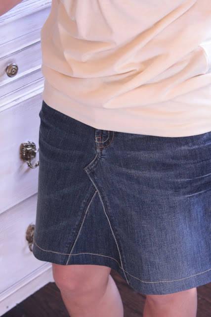 Faire une jolie jupe partir d 39 un vieux jean guide astuces - Que faire avec un vieux jean ...