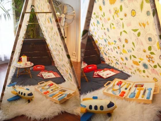 tente cabane pour enfant guide astuces. Black Bedroom Furniture Sets. Home Design Ideas