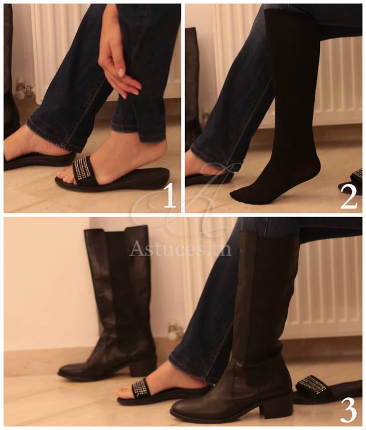 Mettre des bottes facilement avec un jeans large guide astuces - Mettre une couette facilement ...
