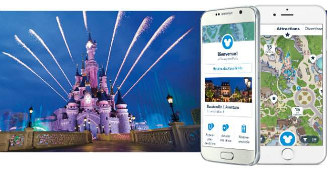 application mobile du parc Disneyland Paris