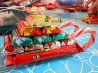 Traîneaux du Père Noël en friandises