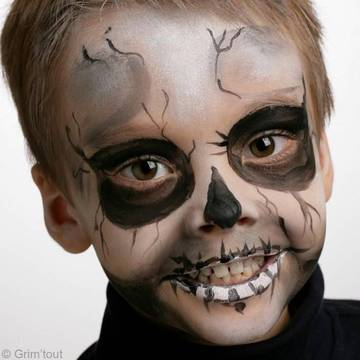 Maquillage squelette pour Halloween