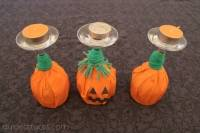 Bougeoirs citrouilles