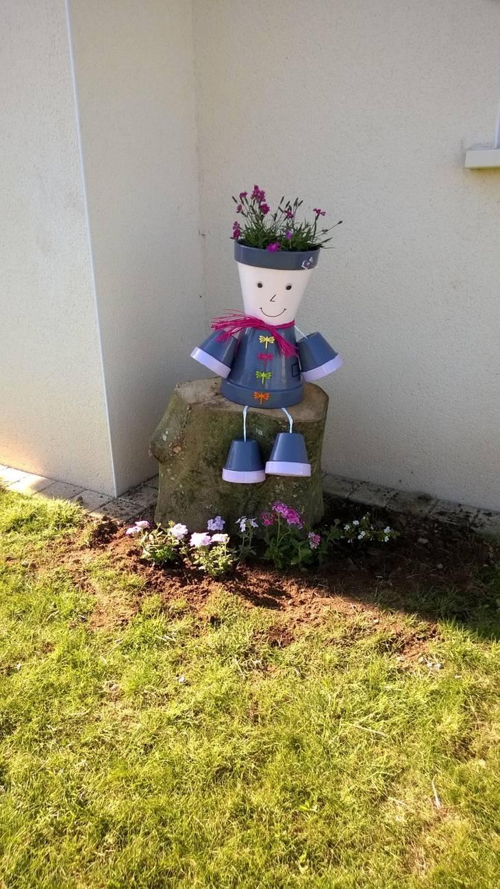 Personnage fleuri guide astuces - Pot de jardin exterieur ...