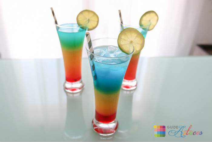 Cocktail rainbow recette sans alcool guide astuces for Cocktail sans alcool noel
