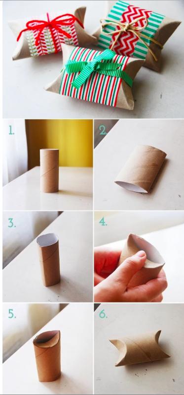 emballage cadeau en rouleau de papier toilette - guide astuces