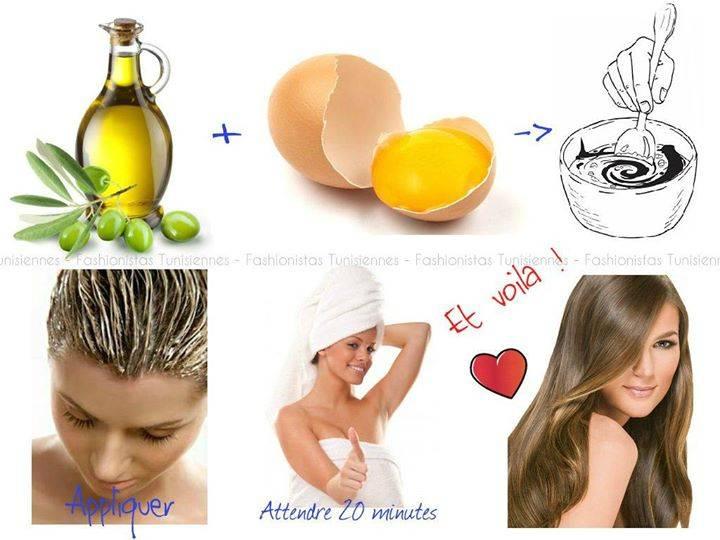 Le masque pour les cheveux avec les vitamines в6 et в12 lhuile de bardane