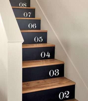 Des escaliers numérotés