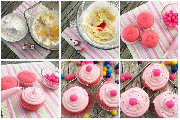 Cupcakes chewing-gum