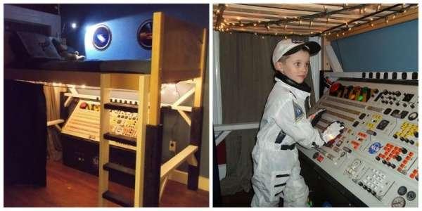 Une décoration réaliste pour la chambre de votre petit astronaute