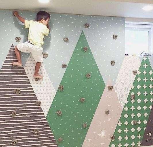 Un mur pour s'entraîner à l'escalade