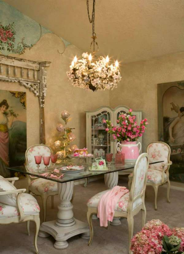 Coin repas esprit shabby chic