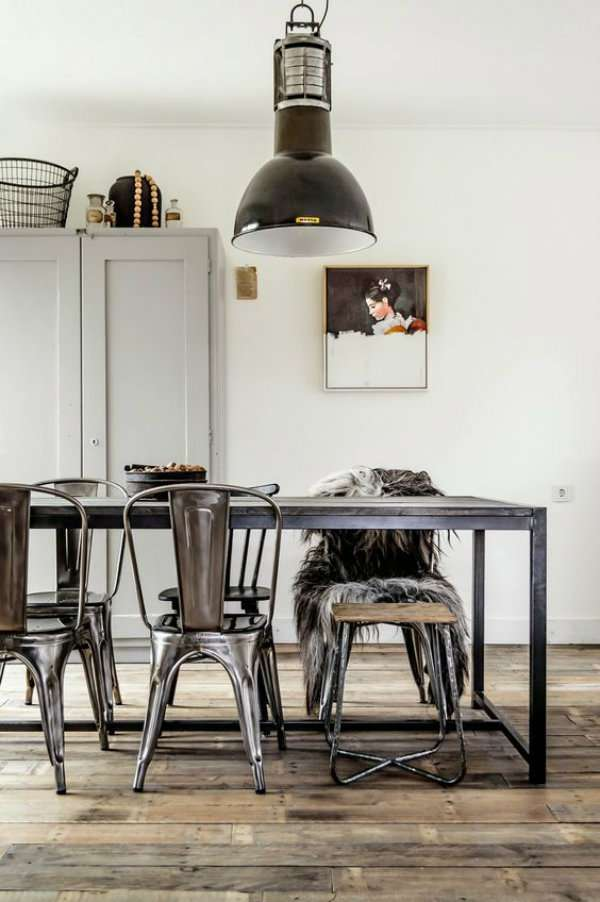 Coin repas style industriel