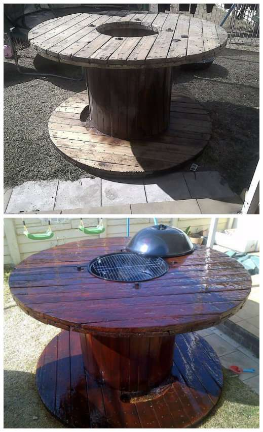 Une table barbecue DIY avec un touret