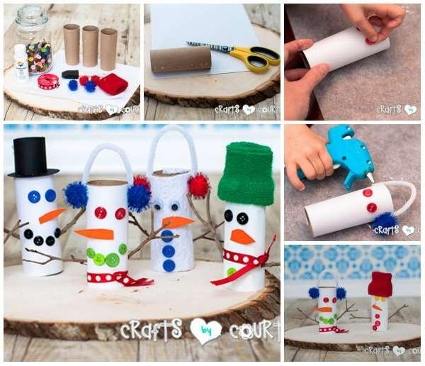 Populaire 17 Activités manuelles de Noël pour enfants avec des rouleaux de  PS62