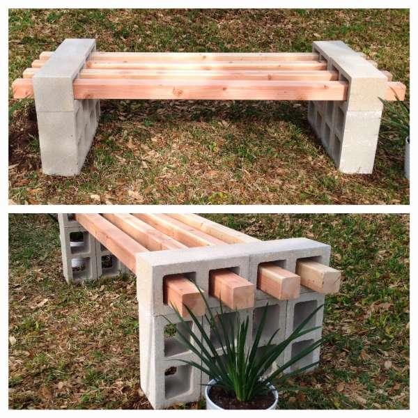 18 id es de mobilier de jardin diy qui vont transformer votre ext rieur guide astuces for Plan banc de jardin