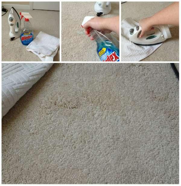 Nettoyer une tache sur le tapis