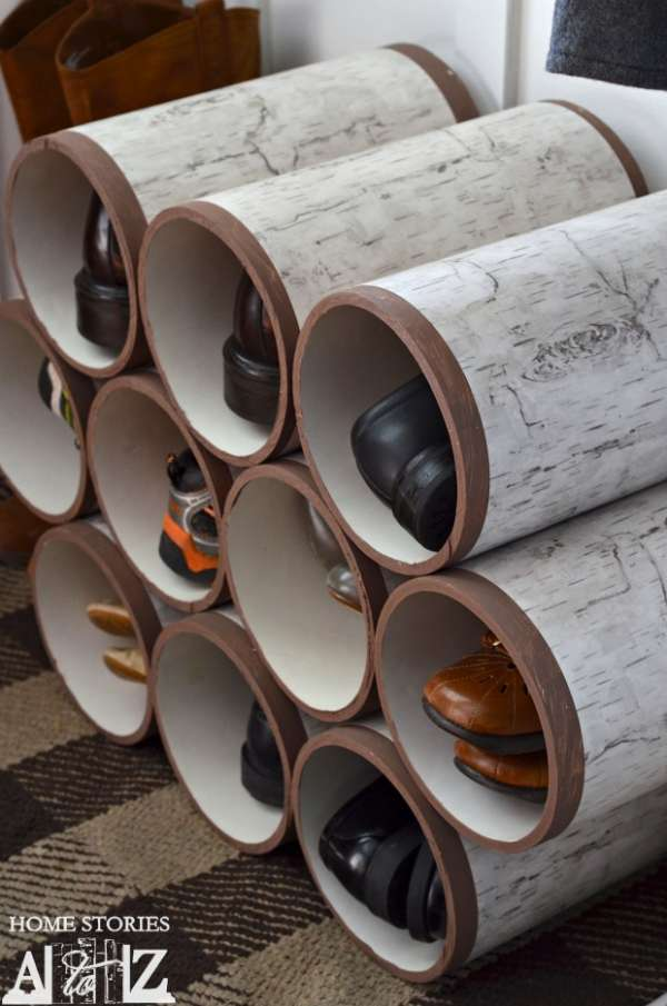 Tubes en PVC collés ensemble