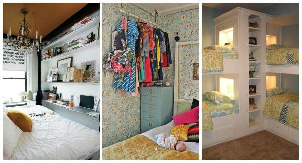 14 astuces pour gagner de la place dans une petite chambre coucher guide astuces. Black Bedroom Furniture Sets. Home Design Ideas