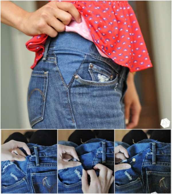 Agrandir un jean au niveau de la taille
