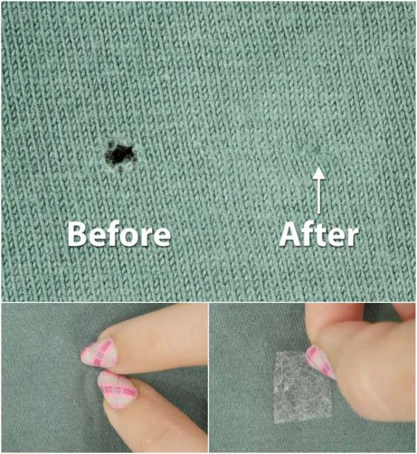 Réparer un petit trou dans un t-shirt sans couture