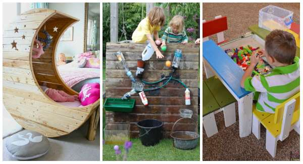 21 créations géniales pour enfants avec des palettes