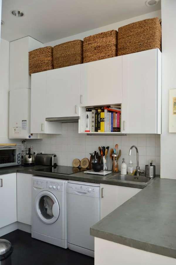 14 id es de g nie pour gagner de l 39 espace dans une petite cuisine guide astuces. Black Bedroom Furniture Sets. Home Design Ideas