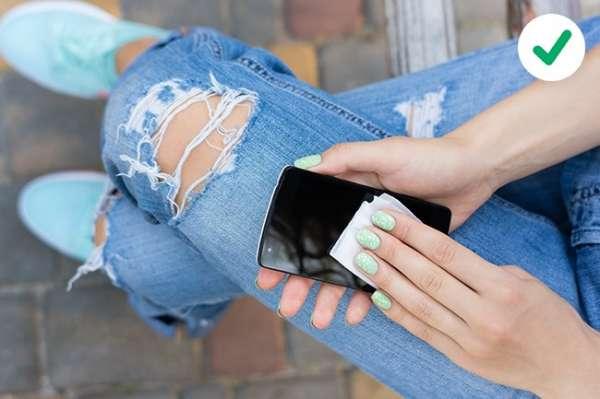 Nettoyez l'écran de votre smartphone
