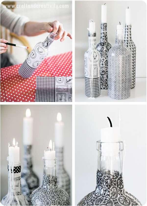 Des bouteilles photophores