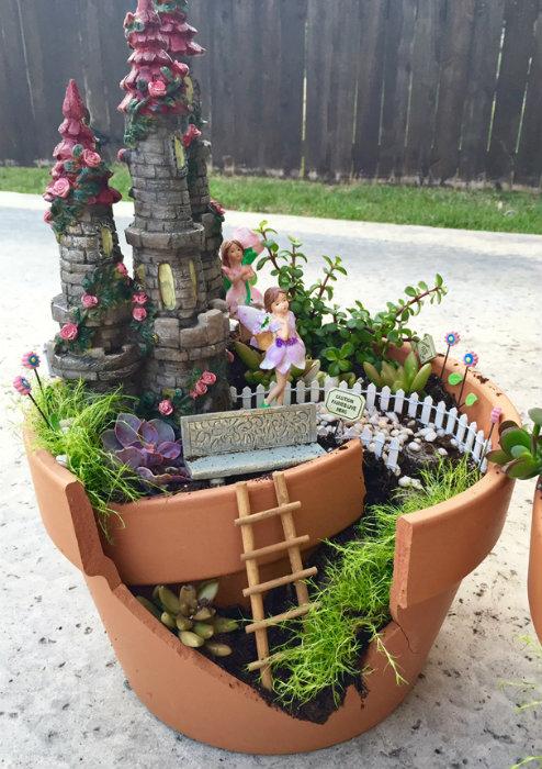 24 id es innovantes pour r utiliser des objets que vous - Deco jardin avec pots de fleurs nimes ...