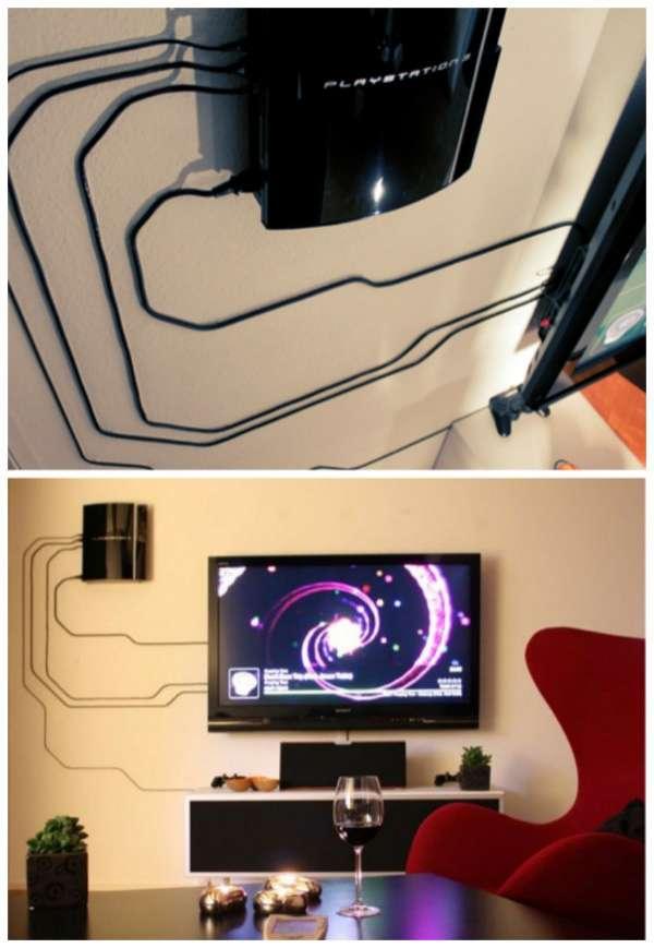 10 astuces g niales pour cacher les fils lectriques qui tra nent partout guide astuces. Black Bedroom Furniture Sets. Home Design Ideas