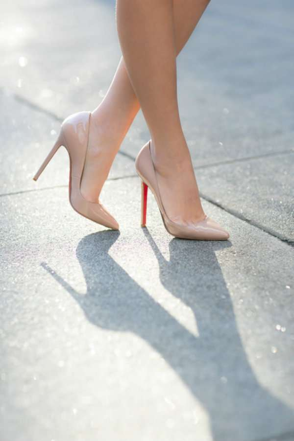 Des chaussures nude