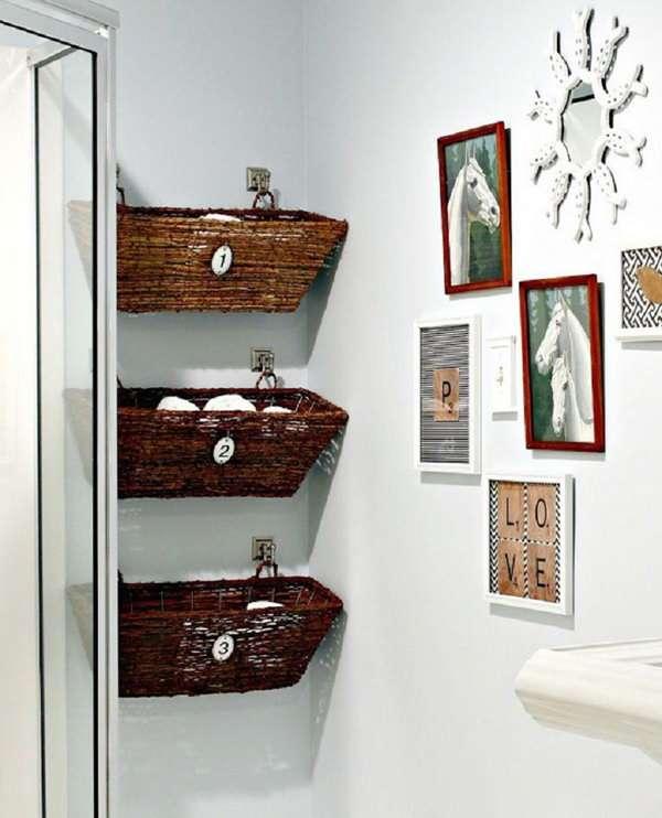 16 astuces gain de place pour petite salle de bain - guide astuces - Salle De Bain Gain De Place