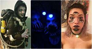 16+ photos des plus cool costumes illusions pour Halloween