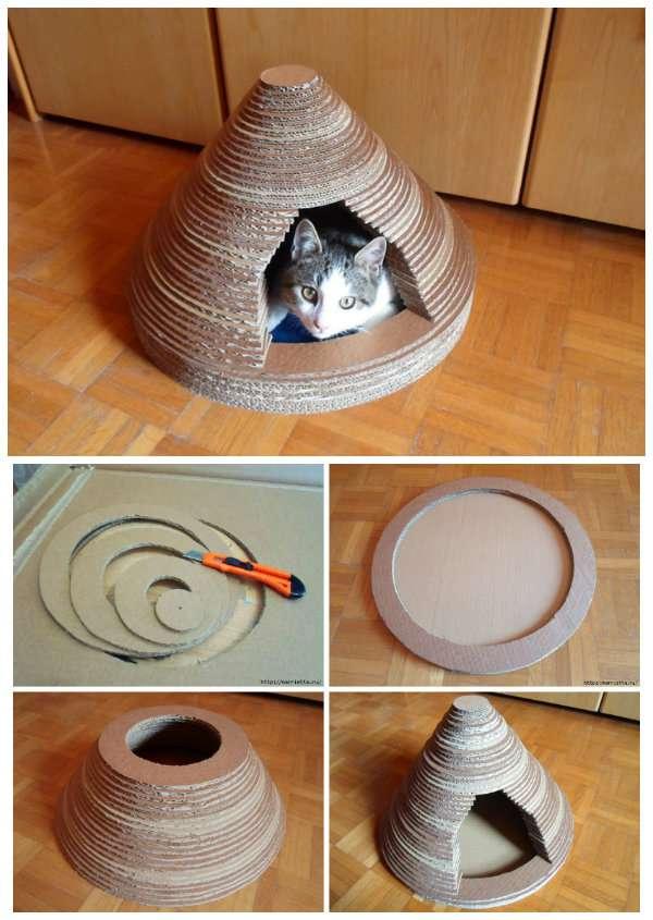 27 supers id es bricolage pour chats et chiens guide astuces - Bricolage bougie en carton ...